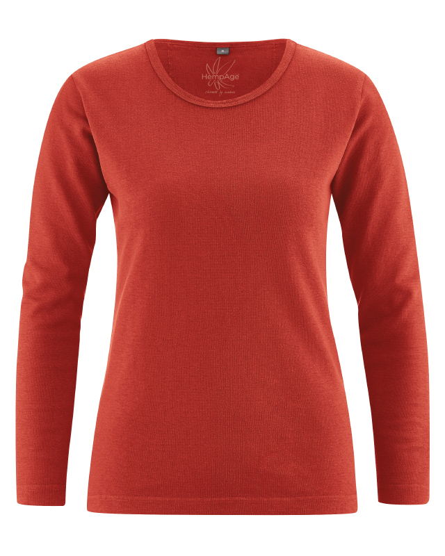the latest 10595 ab941 Basic Damen langarm T-Shirt Naomi kbA Hanf/Baumwolle GOTS ...
